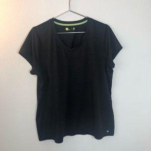 4/$20 Xersion black v-neck short sleeve tee